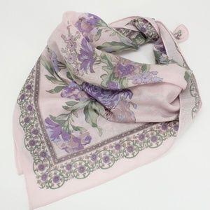 Vintage Light Purple Lavender Floral Scarf